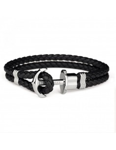 ANCHOR BRACELETE PHREP STAINLESS STEEL BLACK XXL