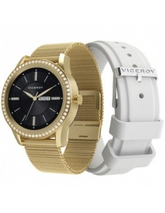 PACK RELOJ SMART DORADO