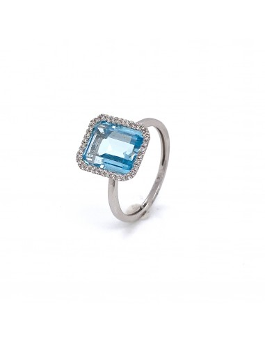 CT 0,15-ANILLO BLUETTE ORO BLANCO DE 18K
