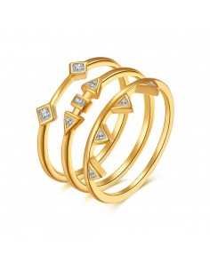ANILLO TRIPLE GOLD 16 PLATA...
